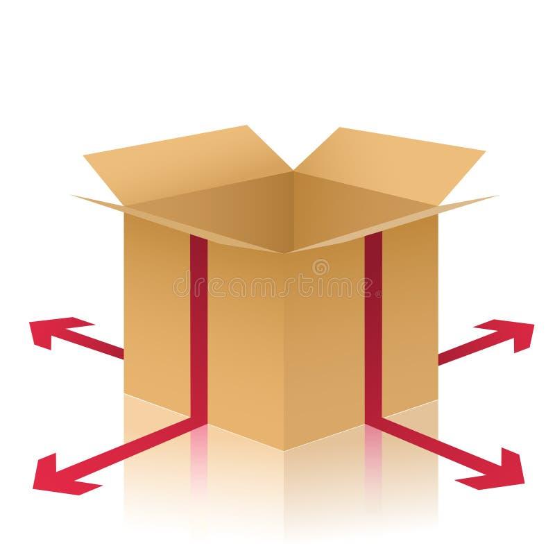 иллюстрация поставки коробки иллюстрация вектора