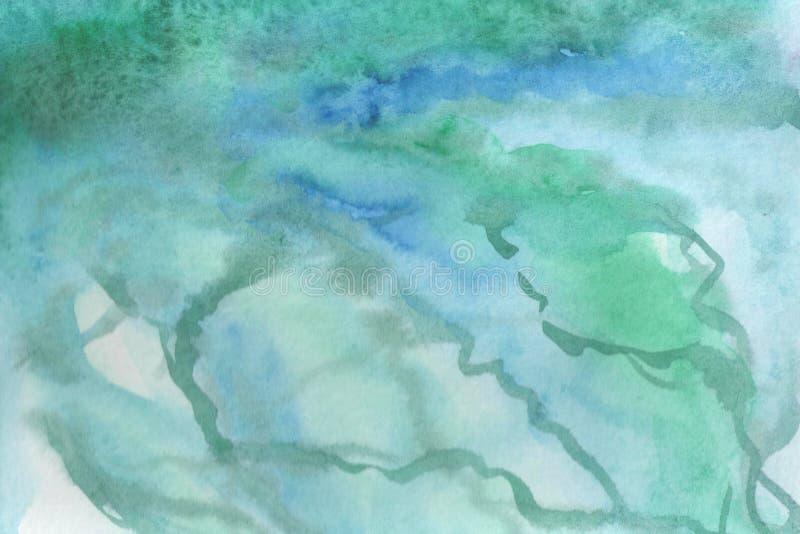 Иллюстрация предпосылки акварели Градиент акварели как мраморная текстура иллюстрация вектора
