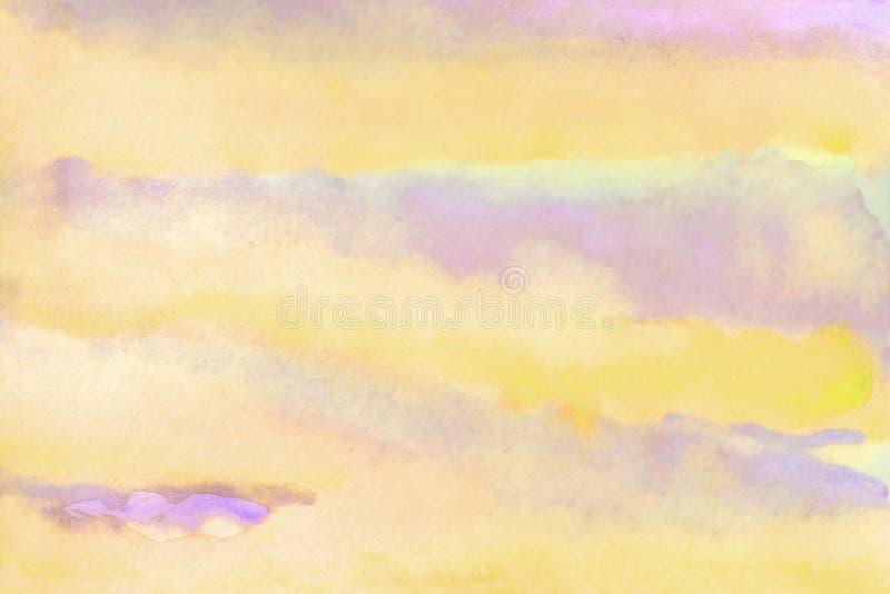 Иллюстрация предпосылки акварели Облако акварели нежное на небе бесплатная иллюстрация