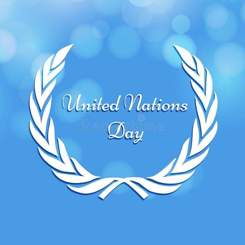Иллюстрация предпосылки дня Организации Объединенных Наций иллюстрация вектора