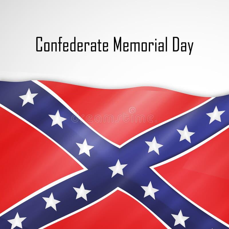 Иллюстрация предпосылки Дня памяти погибших в войнах Confederate бесплатная иллюстрация