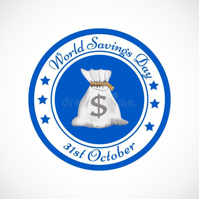 Иллюстрация предпосылки дня сбережений мира иллюстрация штока