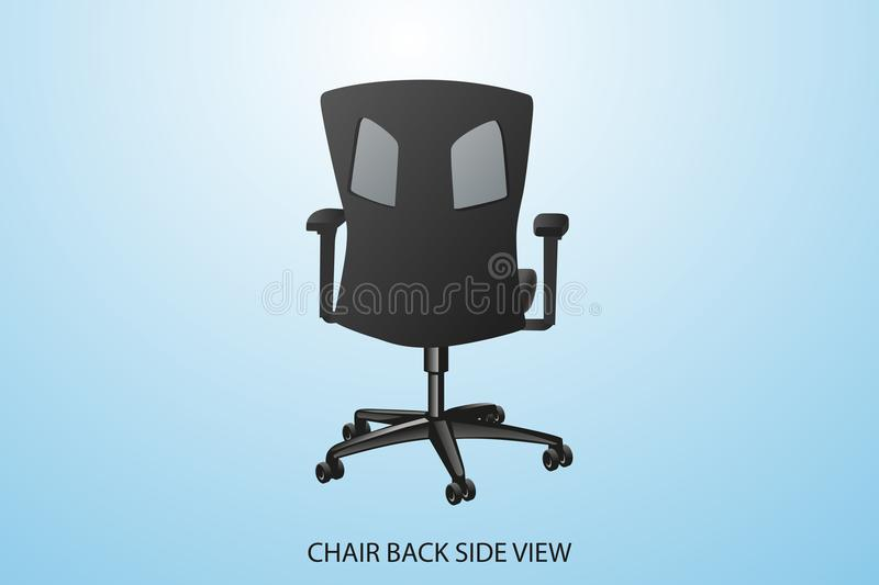 Иллюстрация представления стороны bak стула вектора иллюстрация штока