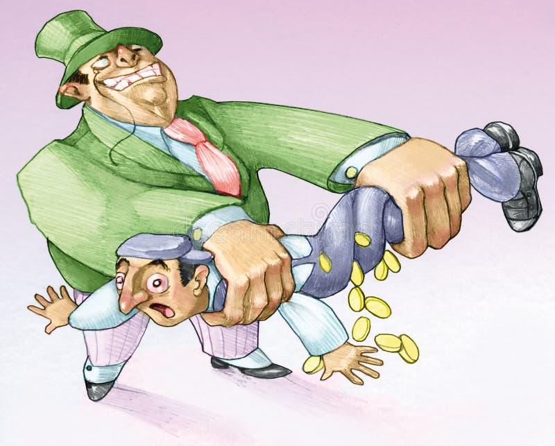 Иллюстрация работников выжимкы политическая иллюстрация штока