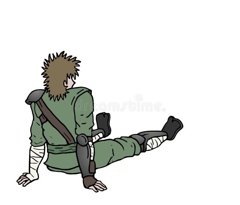 Иллюстрация ратника иллюстрация вектора