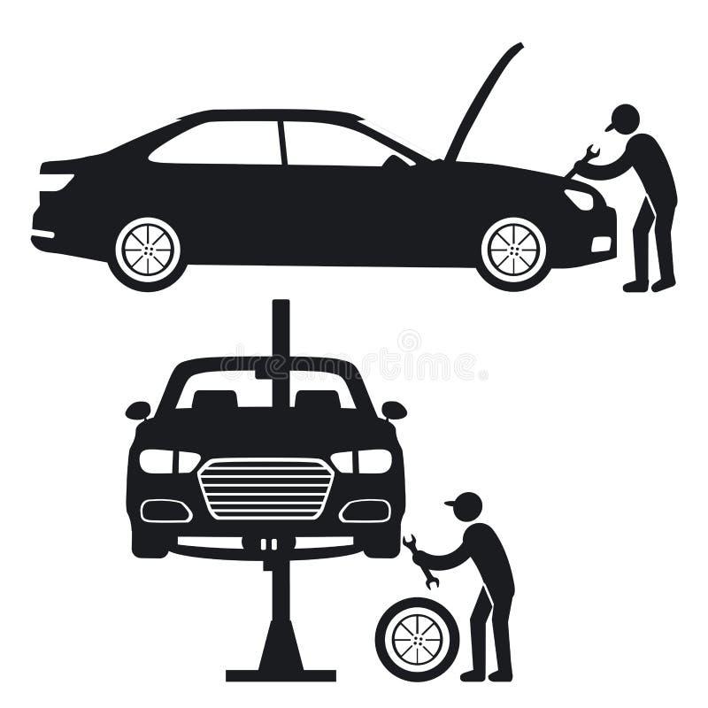 Иллюстрация ремонта автомобиля бесплатная иллюстрация