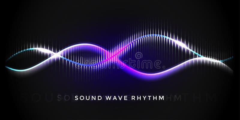 Иллюстрация ритма звуковой войны иллюстрация вектора
