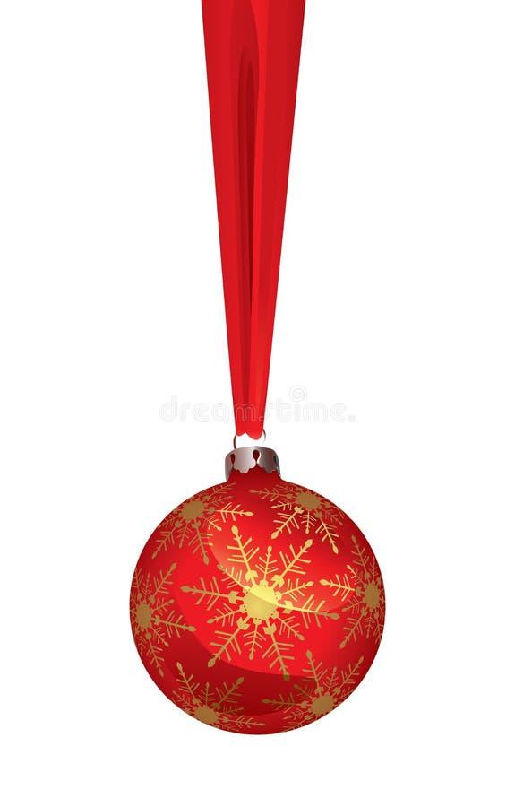 иллюстрация рождества шарика иллюстрация вектора