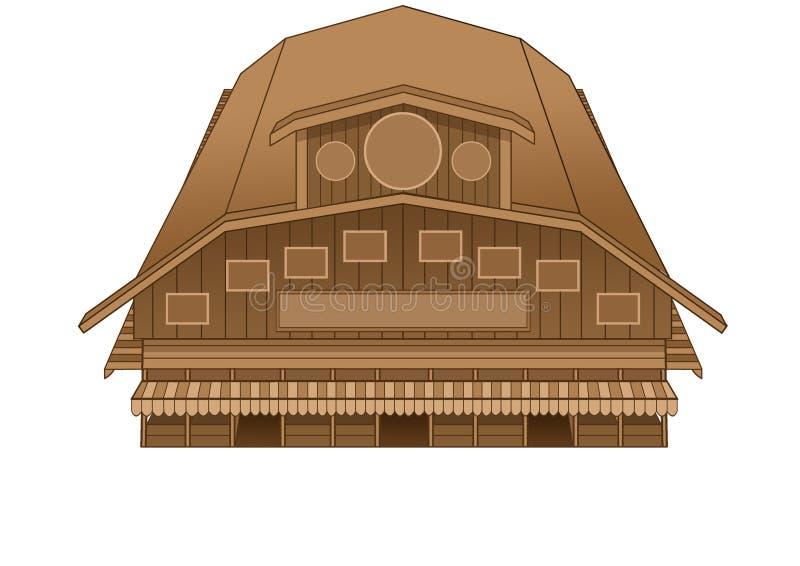 Иллюстрация рынка здания дизайна западная иллюстрация штока