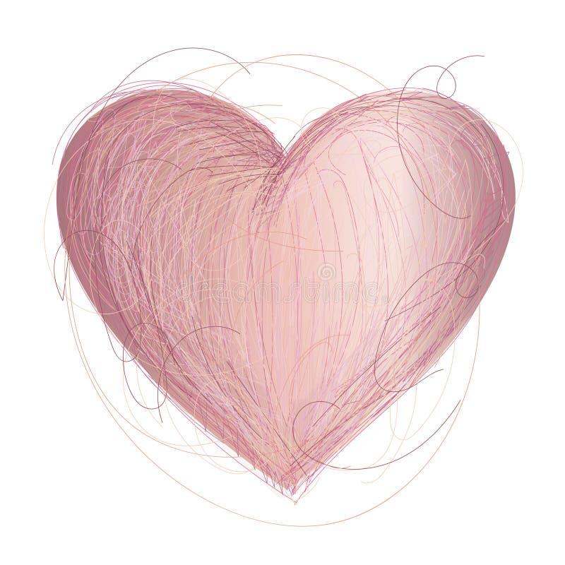 Иллюстрация сердца логотипа иллюстрация вектора