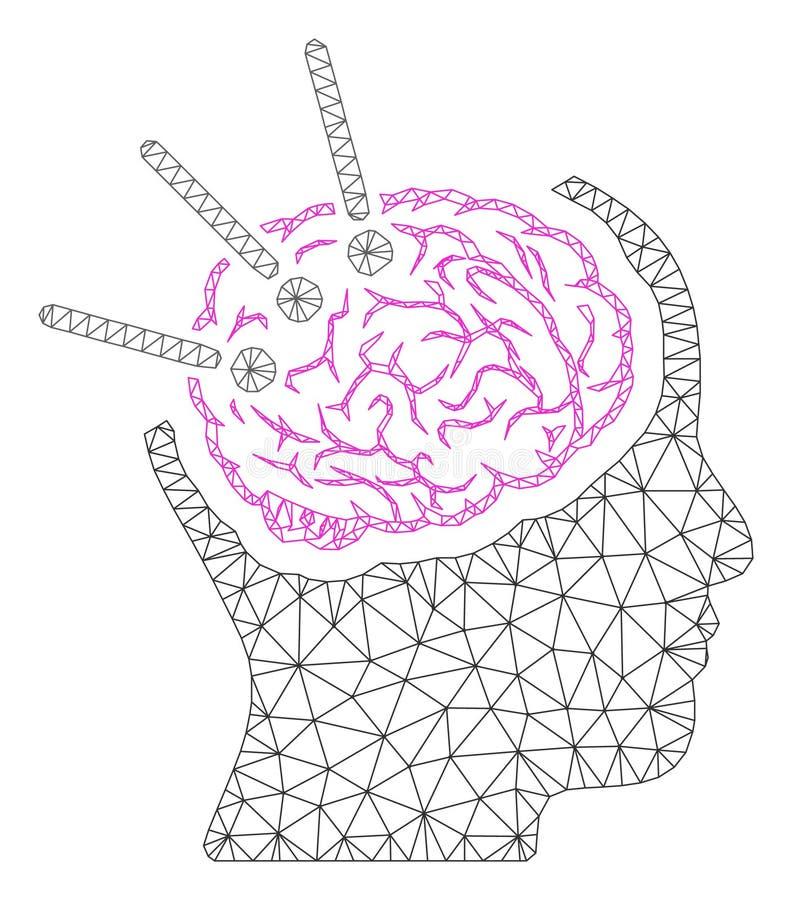 Иллюстрация сетки вектора рамки аутопсии мозга полигональная бесплатная иллюстрация