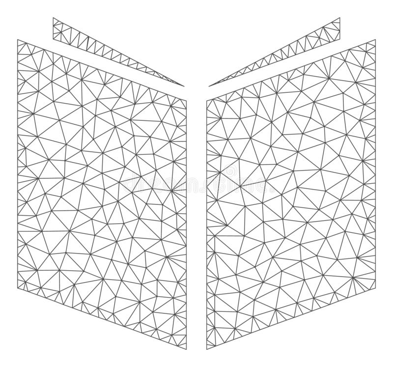 Иллюстрация сетки вектора рамки книги полигональная иллюстрация вектора