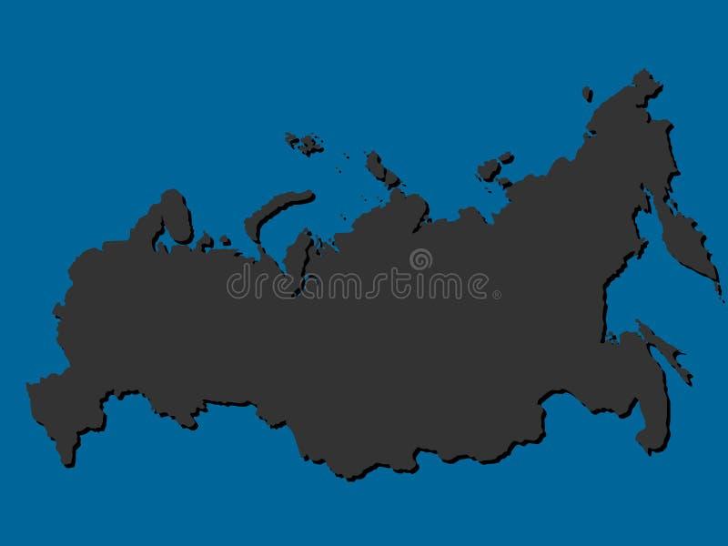 Иллюстрация силуэта карты России запаса вектора бесплатная иллюстрация
