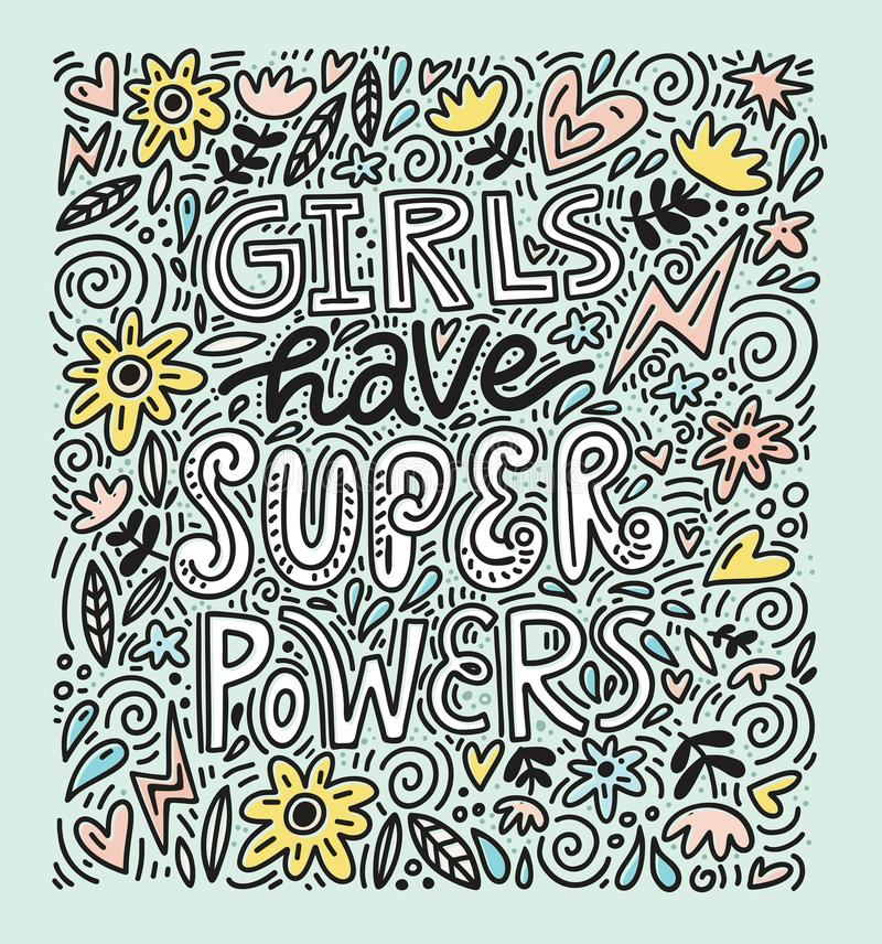 Иллюстрация силы девушки иллюстрация штока