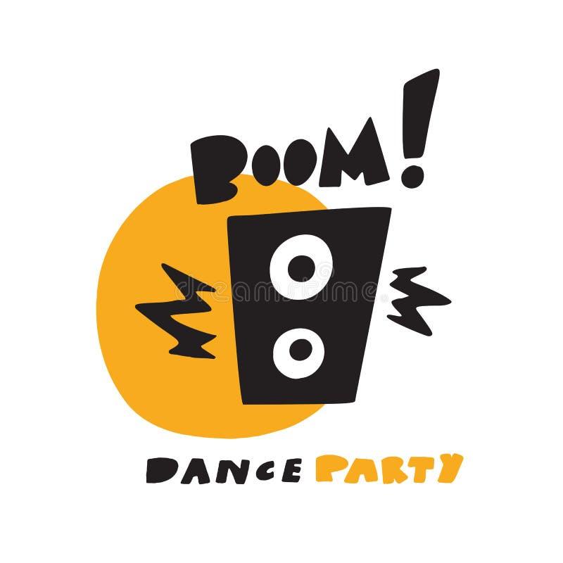Иллюстрация смешной руки вычерченная прибора диктора музыки, сделанная в векторе Заграждение фразы Концепция танцев бесплатная иллюстрация