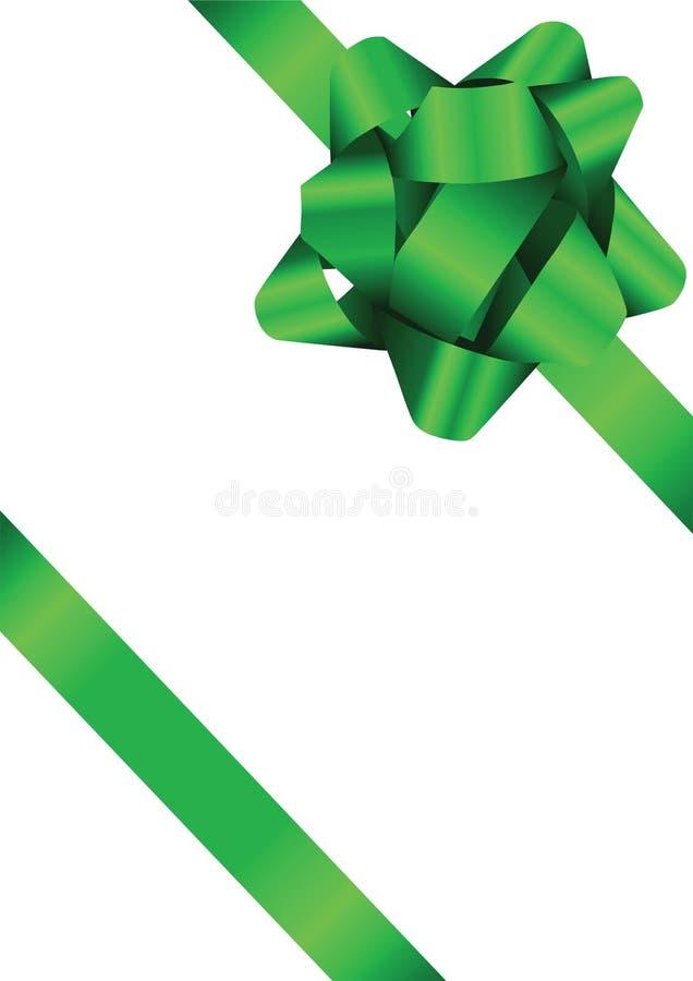 иллюстрация смычка зеленая стоковое изображение