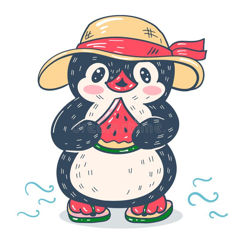 активно пингвин с арбузом картинки давних