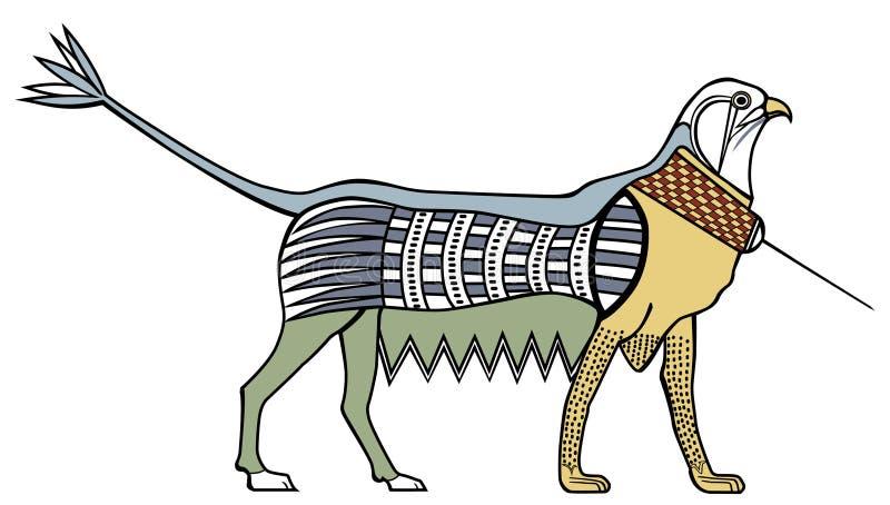 Иллюстрация старого провеса Griffith египтянина Белая предпосылка иллюстрация вектора