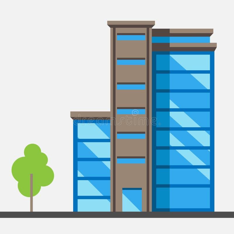 Иллюстрация стеклянной иллюстрации вектора дома на белой предпосылке бесплатная иллюстрация
