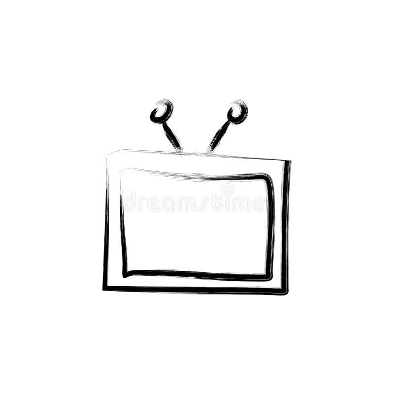 Иллюстрация стиля эскиза ТВ бесплатная иллюстрация