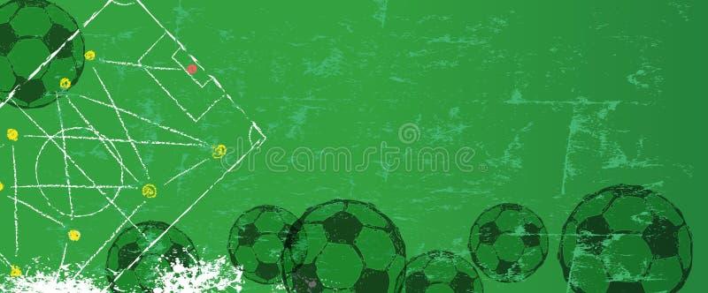 Иллюстрация стиля grunge футбола или футбола иллюстрация штока