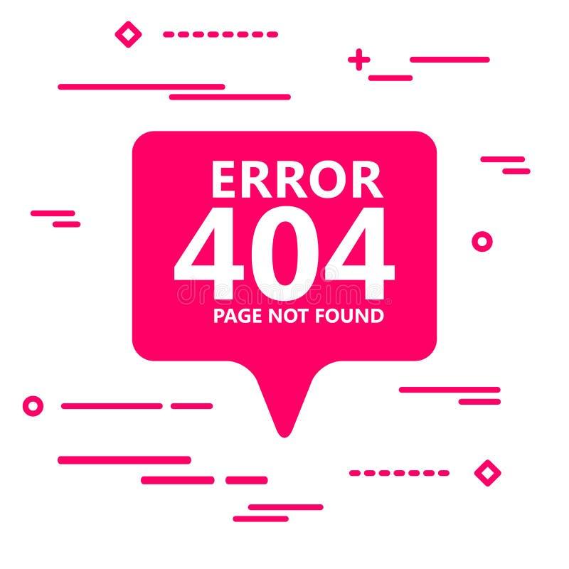 иллюстрация страницы 404 ошибок найденная на плоском розовом значке o пузыря бесплатная иллюстрация