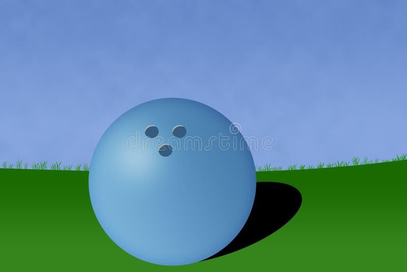 иллюстрация суда боулинга шарика иллюстрация штока