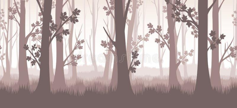 Иллюстрация 'Сумерки леса' иллюстрация вектора