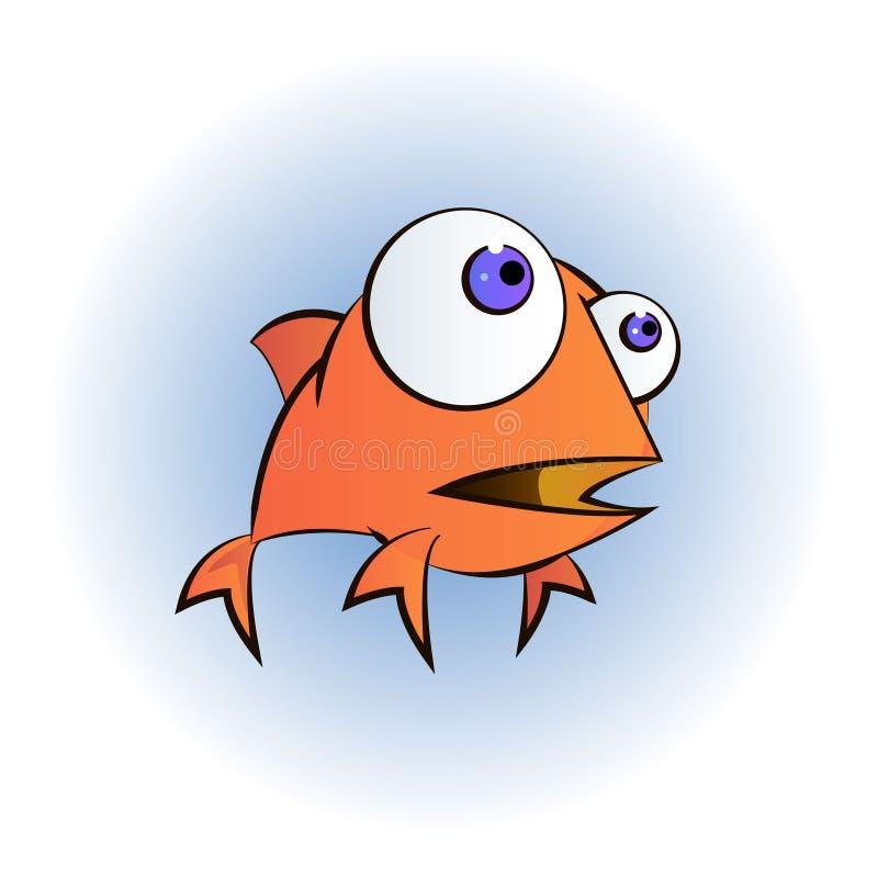 Иллюстрация счастливого персонажа из мультфильма рыбки бесплатная иллюстрация