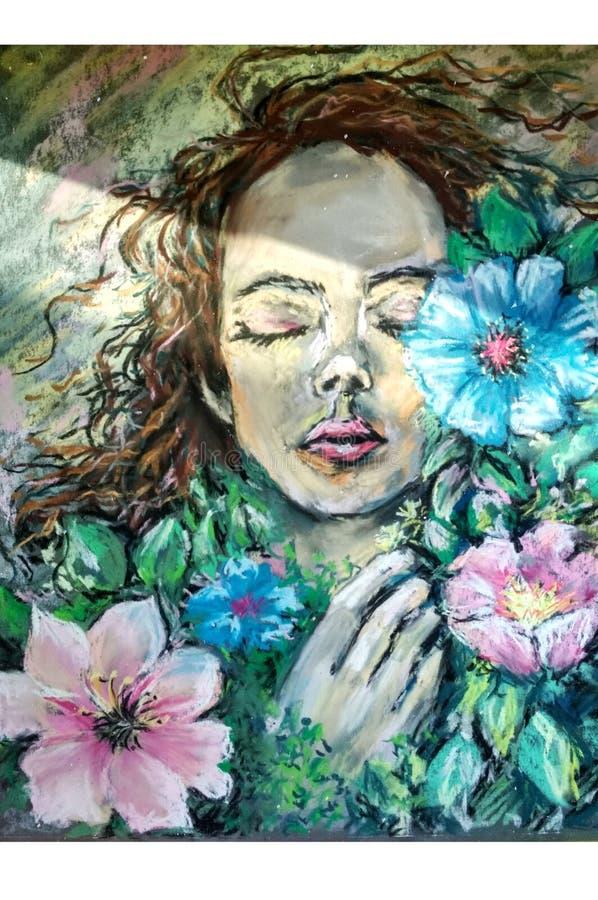 Иллюстрация с пастелью стоковая фотография