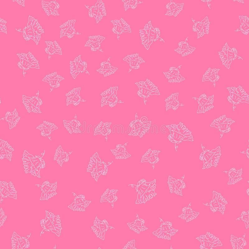 Иллюстрация с радужкой в винтажном стиле гравировки картина безшовная иллюстрация вектора
