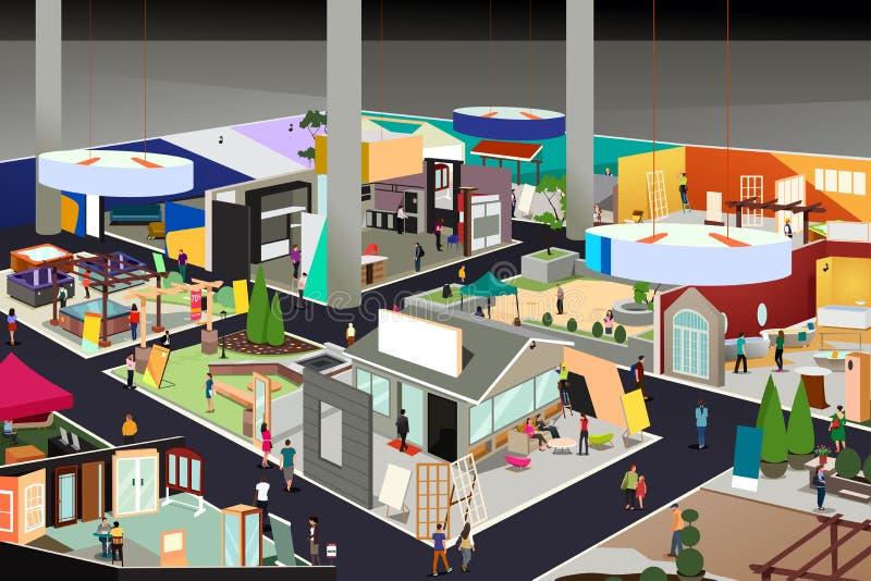 Иллюстрация торговой выставки дома и сада иллюстрация вектора