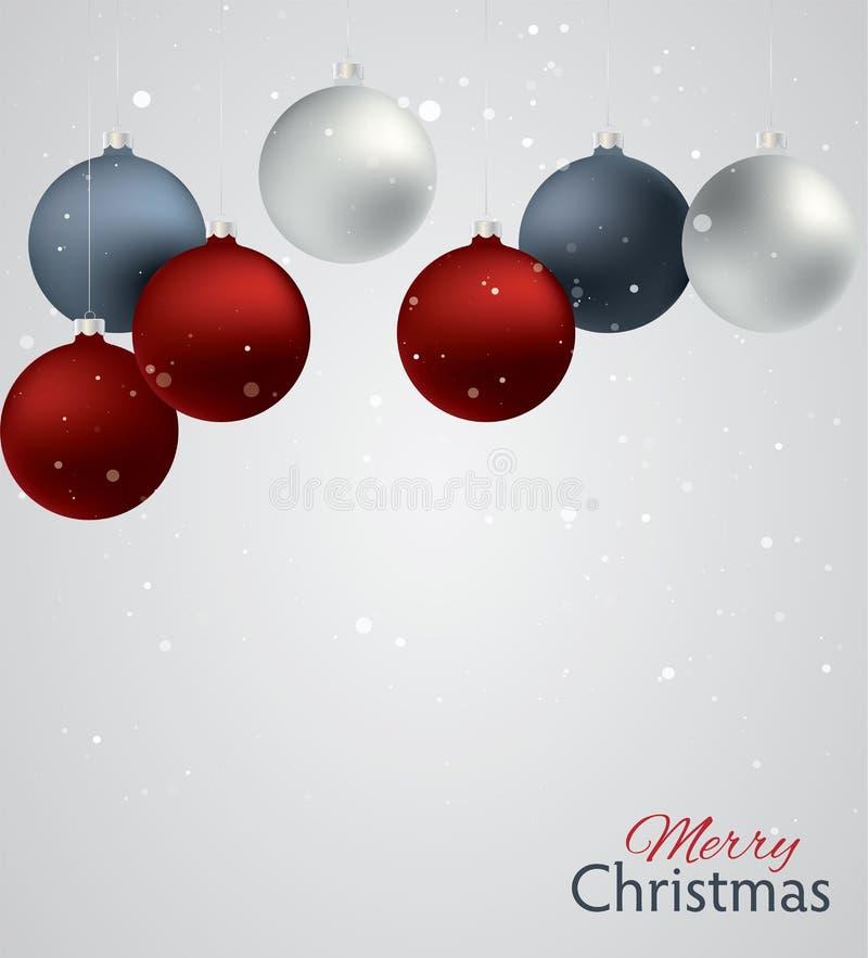иллюстрация украшения рождества шариков предпосылки