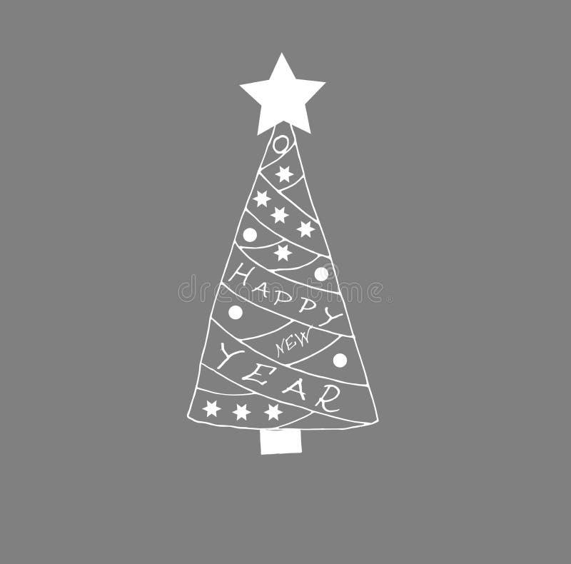 Иллюстрация украшенной рождественской елки иллюстрация вектора
