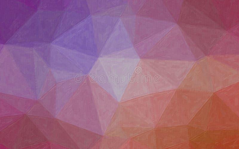 Иллюстрация фиолетовой и красной предпосылки картины маслом контраста стоковые фотографии rf