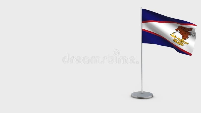 Иллюстрация флага Американских Самоа 3D развевая иллюстрация штока