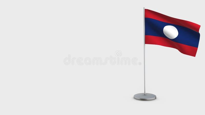Иллюстрация флага Лаоса 3D развевая иллюстрация штока
