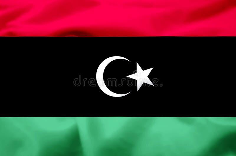 Иллюстрация флага Ливии реалистическая иллюстрация вектора