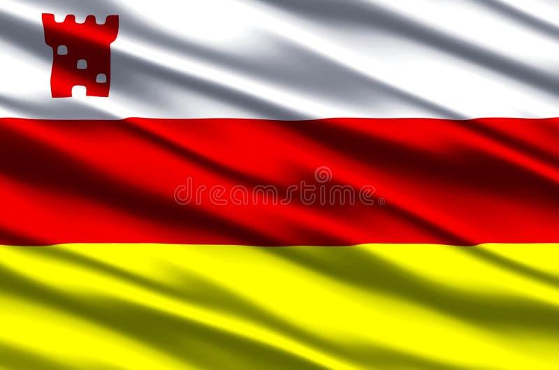 Иллюстрация флага Санта-Барбара Калифорнии реалистическая бесплатная иллюстрация
