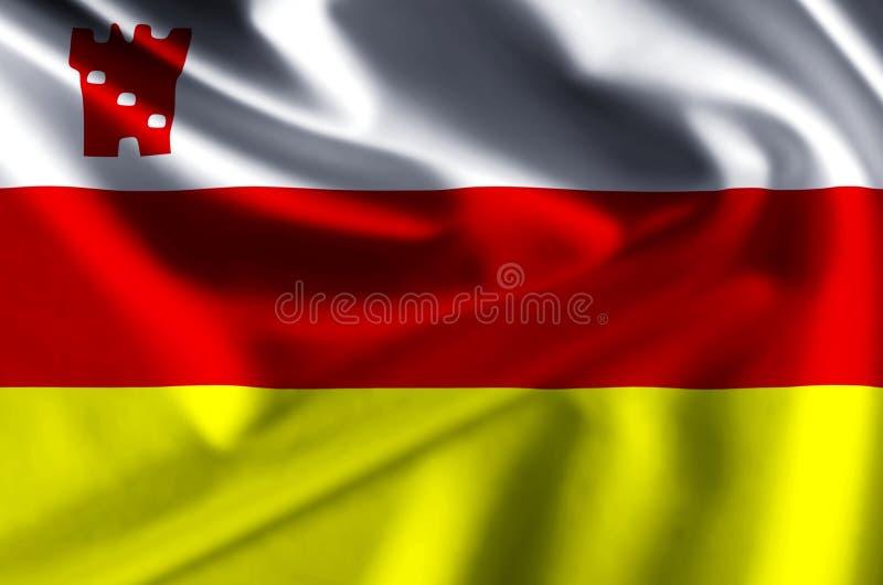 Иллюстрация флага Санта-Барбара Калифорнии реалистическая иллюстрация штока