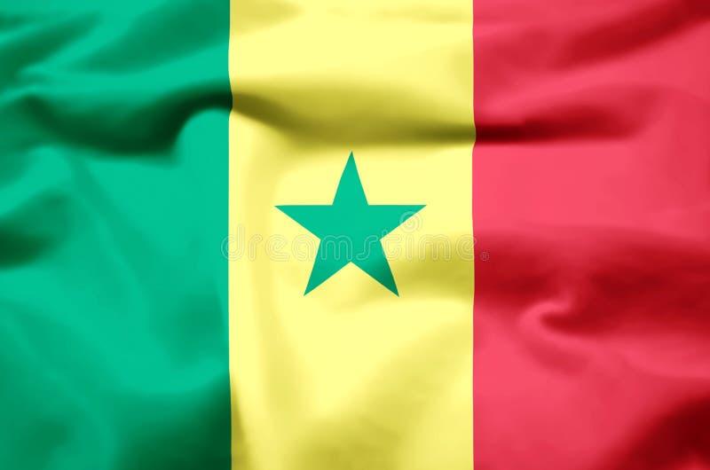 Иллюстрация флага Сенегала реалистическая иллюстрация штока