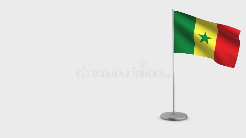 Иллюстрация флага Сенегала 3D развевая иллюстрация вектора