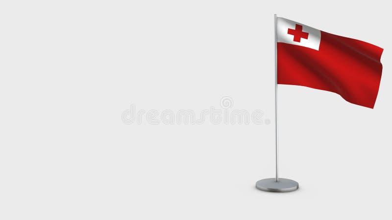 Иллюстрация флага Тонги 3D развевая бесплатная иллюстрация