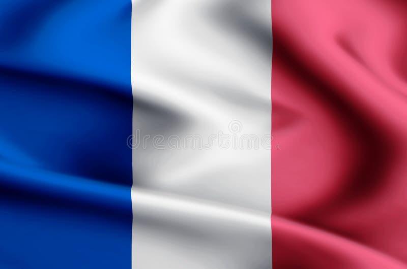 Иллюстрация флага Франции иллюстрация вектора