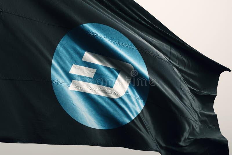 Иллюстрация флага 3d cryptocurrency ЧЕРТОЧКИ бесплатная иллюстрация