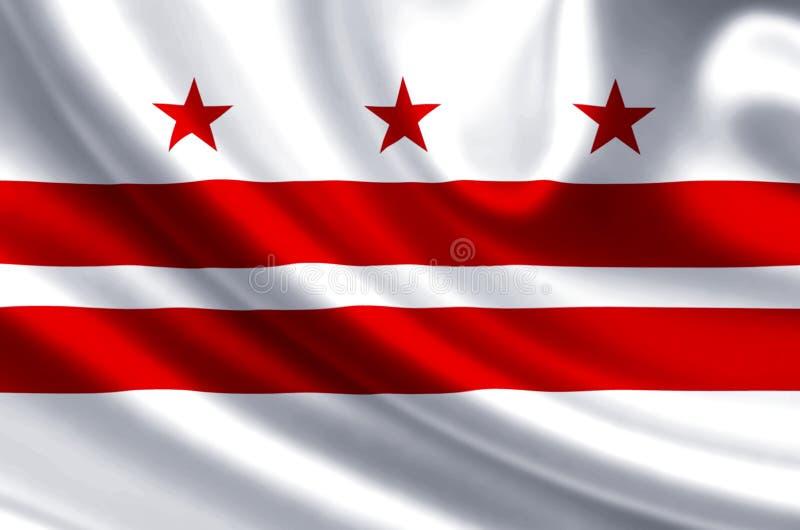 Иллюстрация флага dc Вашингтона бесплатная иллюстрация