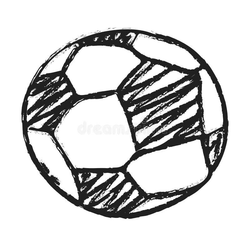 Иллюстрация футбола притяжки руки изолированная шариком бесплатная иллюстрация