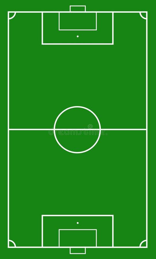 Иллюстрация футбольного поля Предпосылка футбольного поля или футбольного поля бесплатная иллюстрация