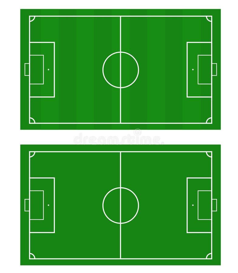 Иллюстрация футбольного поля Предпосылка футбольного поля или футбольного поля иллюстрация вектора