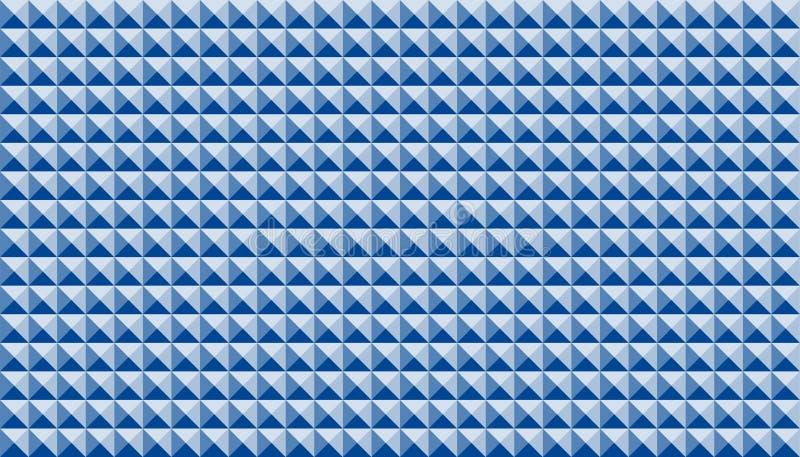 Иллюстрация цвета абстрактной геометрической безшовной картины синяя иллюстрация вектора